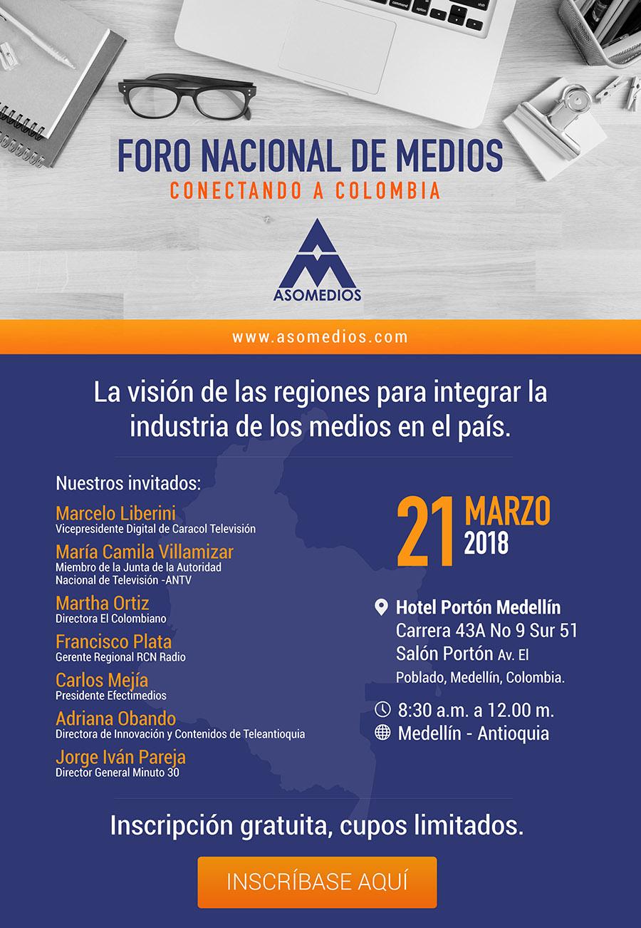 FORO NACIONAL DE MEDIOS – CONECTANDO A COLOMBIA