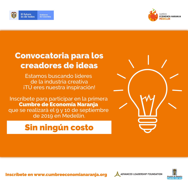 Convocatoria para líderes de la industria creativa del país