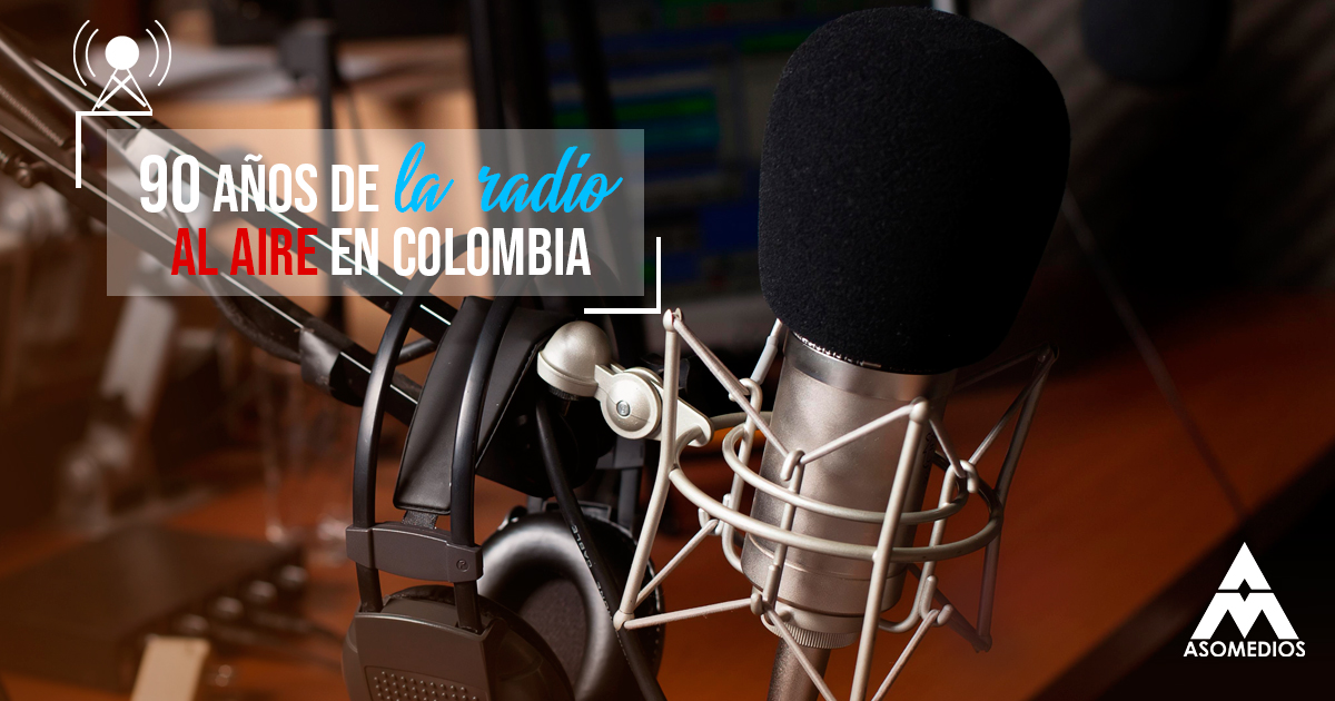90 años de la radio al aire en Colombia
