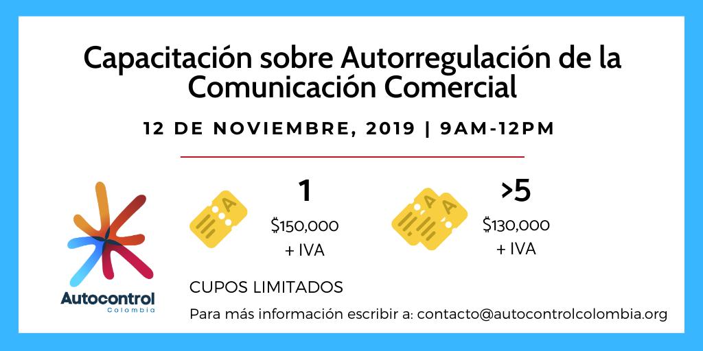 Capacitación y Lanzamiento Autocontrol Colombia, sobre autorregulación de comunicación comercial