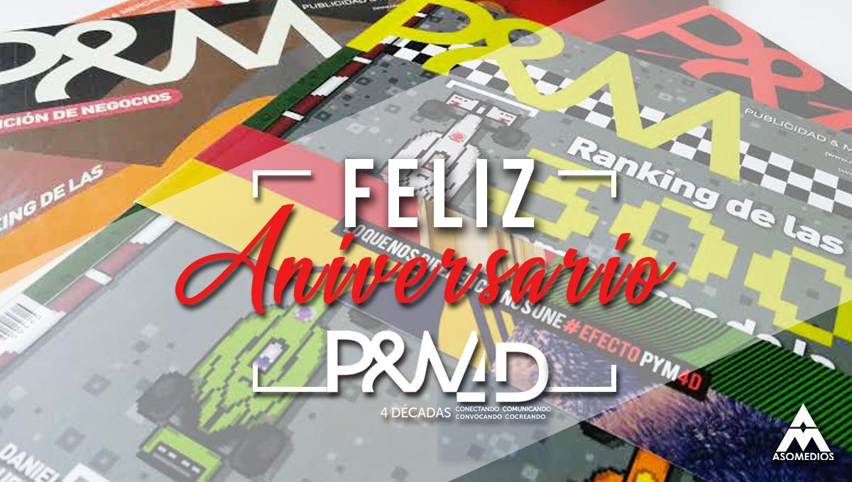 Aniversario P&M, 4 décadas de trayectoria siendo la voz de la comunidad del mercadeo, la publicidad y los medios en Colombia.